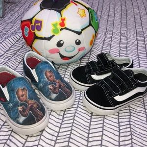"""Vans """"Off the wall"""" TWO PAIR Toddler Shoes"""